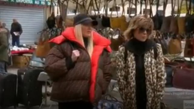 Fendi Logo Padded Jacket outfit worn by Erika Jayne in The Real Housewives of Beverly Hills - TV Show Outfits and Products