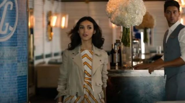 Fendi Striped Shift Dress outfit worn by Alicia Mendoza (Denyse Tontz) in Grand Hotel (S01E01) - TV Show Outfits and Products
