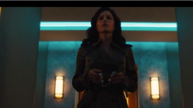 Fleur Du Mal Satin Trench Coat outfit worn by Daisy 'Jett' Kowalski (Carla Gugino) in Jett (S01E01) - TV Show Outfits and Products