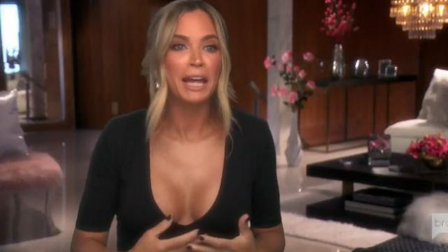 Fleur du Mal Deep V Bodysuit outfit worn by Teddi Mellencamp Arroyave in The Real Housewives of Beverly Hills (S09E19) - TV Show Outfits and Products