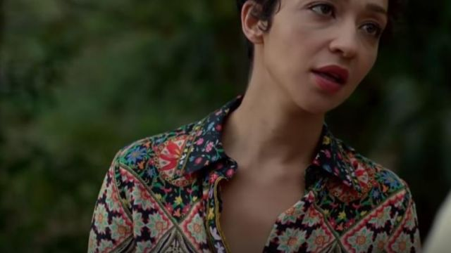 Floral Blouse outfit worn by Tulip O'Hare Tulip (Ruth Negga) as seen in Preacher S03E04 - TV Show Outfits and Products