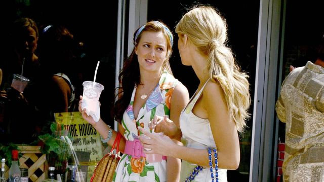 Floral dress Blair Waldorf (Leighton Meester) seen in Gossip Girl Season 2 Episode 1 - TV Show Outfits and Products