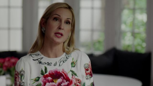Floral dress from Dolce & Gabbana outfit worn by Melissa Daniels (Kelly Rutherford) seen in Dynasty Season 2 Episode 3 - TV Show Outfits and Products