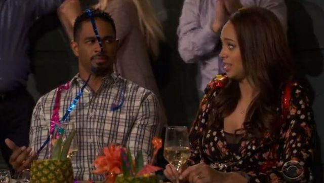Flower dress A. L. C. Claire (Amber Stevens West) seen in Happy Together Season 1 Episode 6 - TV Show Outfits and Products