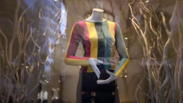 Forever 21 Brushed Striped Colorblock Sweater as seen in Trinkets (S01E01) - TV Show Outfits and Products
