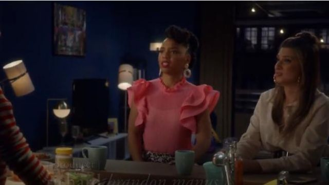 Forever 21 Pleated Ruffled Top outfit worn by Jazz Forster (Chloe Bailey) in grown-ish (Season 02 Episode 13) - TV Show Outfits and Products