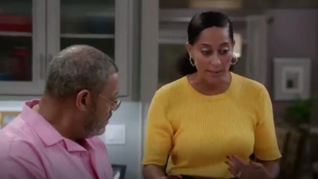Frame Le Crew Sweater outfit worn by Rainbow Johnson (Tracee Ellis Ross) in black-ish (Season03 Episode06) - TV Show Outfits and Products