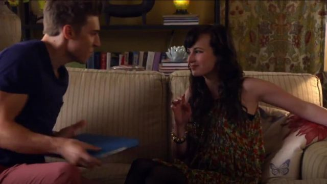 Free People After Dark Garden Top in Tomato Combo outfit seen on Jenna Hamilton (Ashley Rickards) in Awkward. (S03E13)