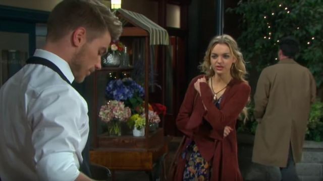 Free People Drop Waist Soft Jacket outfit worn by Claire Brady (Olivia Rose Keegan) as seen in Days of Our Lives March 22, 2019 - TV Show Outfits and Products