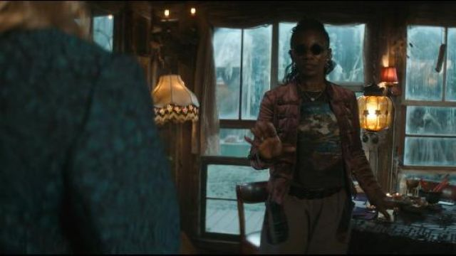 Free People Fitted Velvet Military Jacket outfit worn by Madame Xanadu (Jeryl Prescott) in Swamp Thing (Seaosn 01 Episode 01) - TV Show Outfits and Products
