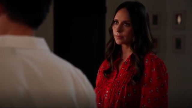 Free People Flowers in December Pintucked Blouse outfit worn by Maddie Kendall (Jennifer Love Hewitt) in 9-1-1 Season 3 Episode 8 - TV Show Outfits and Products