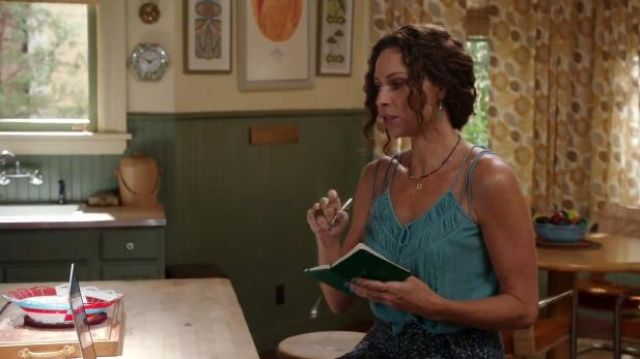 Free People Labryrinth Dream Top outfit worn by Fiona (Minnie Driver) in About a Boy (S02E05) - TV Show Outfits and Products