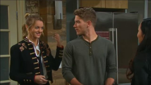 Fashion Trends 2021: Free People Lauren Band Jacket outfit worn by Claire Brady (Olivia Rose Keegan) as seen in Days of Our Lives March 4, 2019