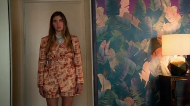 Free People orange Barb Suit Set outfit worn by McAfee (Laura Dreyfuss) in The Politician Season 1 Episode 4 - TV Show Outfits and Products