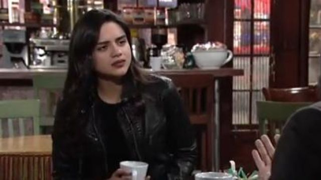 Free people monroe hooded jacket outfit worn by Lola Rosales (Sasha Calle) as seen on The Young and the Restless October 10, 2019 - TV Show Outfits and Products
