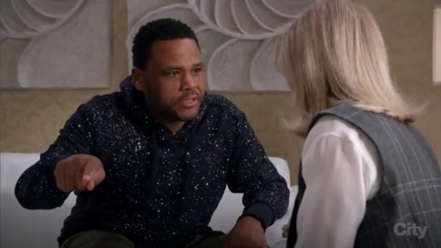 G Star Raw Evin All Over Splat Hoodie outfit worn by Andre 'Dre' Johnson (Anthony Anderson) in black-ish (Season 03 Episode 13) - TV Show Outfits and Products