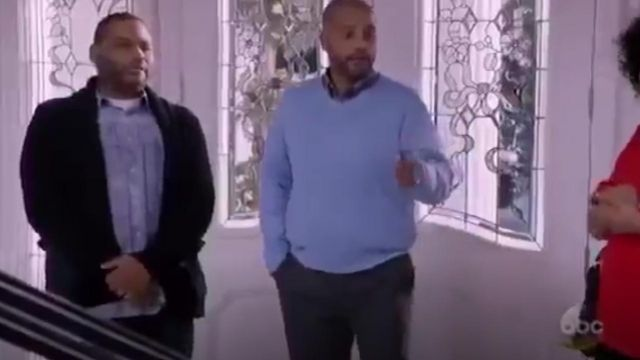 G Star Raw Gralvent Cardigan Sweater outfit worn by Andre 'Dre' Johnson (Anthony Anderson) in black-ish (S01E23) - TV Show Outfits and Products