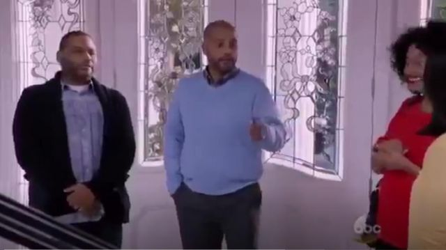 G Star Raw Landoh Clean Longsleeve Shirt outfit worn by Andre 'Dre' Johnson (Anthony Anderson) in black-ish (S01E23) - TV Show Outfits and Products