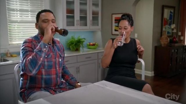 G Star Raw Landoh Indigo Meto Flannel Check Shirt outfit worn by Andre 'Dre' Johnson (Anthony Anderson) in black-ish (Season03 Episode08) - TV Show Outfits and Products