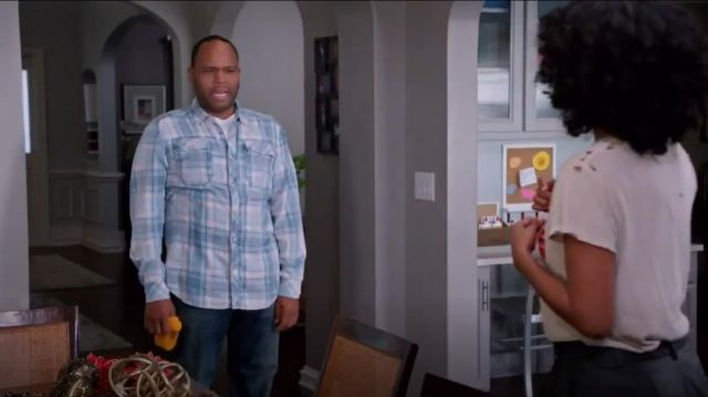 G Star Raw Landoh Longsleeve Button Up Shirt outfit worn by Andre 'Dre' Johnson (Anthony Anderson) in black-ish (S02E08) - TV Show Outfits and Products