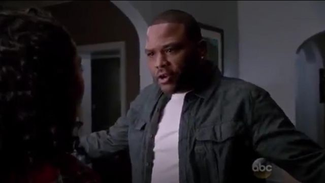 G Star Raw Rovic Heathered Long Sleeve outfit worn by Andre 'Dre' Johnson (Anthony Anderson) in black-ish (S01E21) - TV Show Outfits and Products