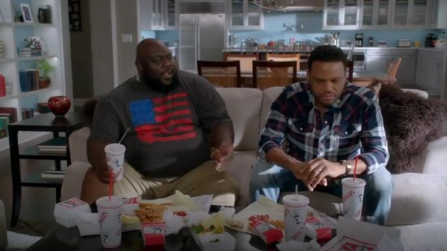 G Star Raw Tacoma Shirt In Indigo outfit worn by Andre 'Dre' Johnson (Anthony Anderson) in black-ish (Season 03 Episode 15) - TV Show Outfits and Products