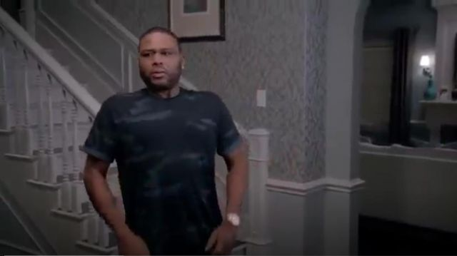 G Star Raw Troupman Short Sleeve T Shirt outfit worn by Andre 'Dre' Johnson (Anthony Anderson) in black-ish (Season 01 Episode 14) - TV Show Outfits and Products