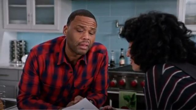 G Star Raw Wolker Shirt In Red Check outfit worn by Andre 'Dre' Johnson (Anthony Anderson) in black-ish (S02E13) - TV Show Outfits and Products