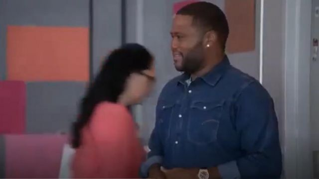 G Star Shirt Arc 3d Denim Light Aged outfit worn by Andre 'Dre' Johnson (Anthony Anderson) in black-ish (Season 01 Episode 04) - TV Show Outfits and Products