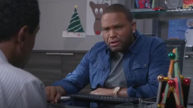 G Star Shirt Arc 3d Denim Light Aged outfit worn by Anthony Anderson in black-ish (S02E09) - TV Show Outfits and Products