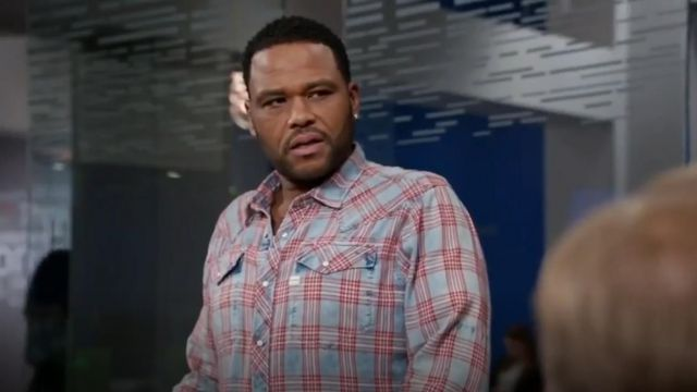 G Star Tacoma Long Sleeve Shirt outfit worn by Andre 'Dre' Johnson (Anthony Anderson) in black-ish (S03E05)