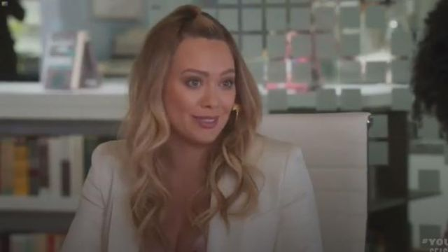Gabriela Hearst Jose Fringed Blazer outfit worn by Kelsey Peters (Hilary Duff) in Younger (Season06 Episode01) - TV Show Outfits and Products