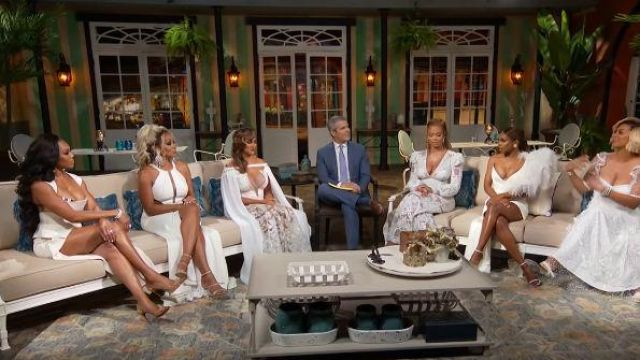 Galanni Arcadian Dress in Ivory outfit worn by Monique Samuelsin The Real Housewives of Potomac Season 04 - TV Show Outfits and Products