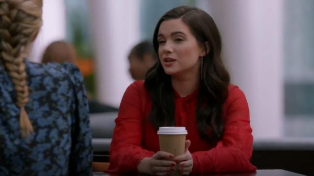 Giambattista Valli Silk Lace Blouse outfit worn by Jane Sloan (Katie Stevens) in The Bold Type (S03E07) - TV Show Outfits and Products