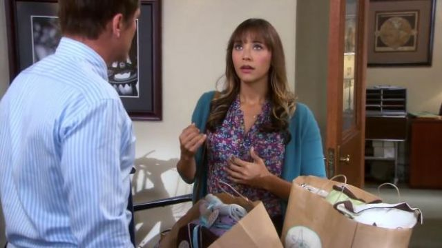 Girl. By Band of Outsiders Floral blouse outfit worn by Ann Perkins (Rashida Jones) in Parks and Recreation (S06E03) - TV Show Outfits and Products