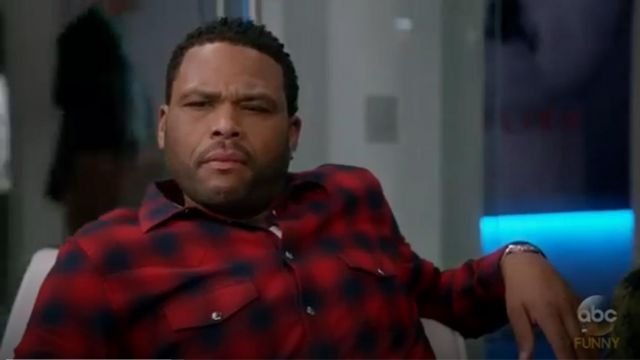 Givenchy Plaid Western Shirt outfit worn by Andre 'Dre' Johnson (Anthony Anderson) in black-ish (Season03 Episode09) - TV Show Outfits and Products