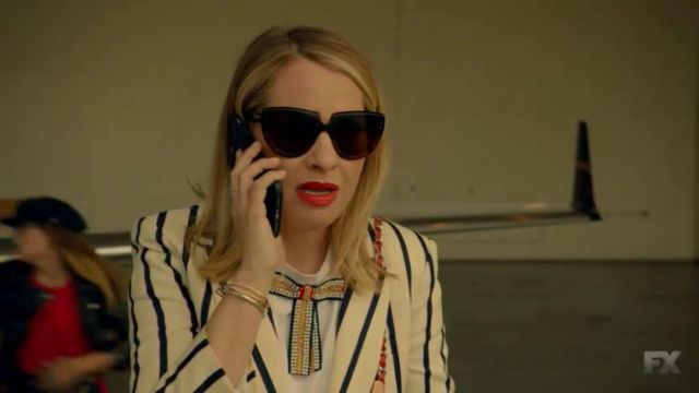 Glasses Coco St. Peter Vanderbilt (Leslie Grossman) seen in American Horror Story Revelation (Season 8 Episode 1) - TV Show Outfits and Products