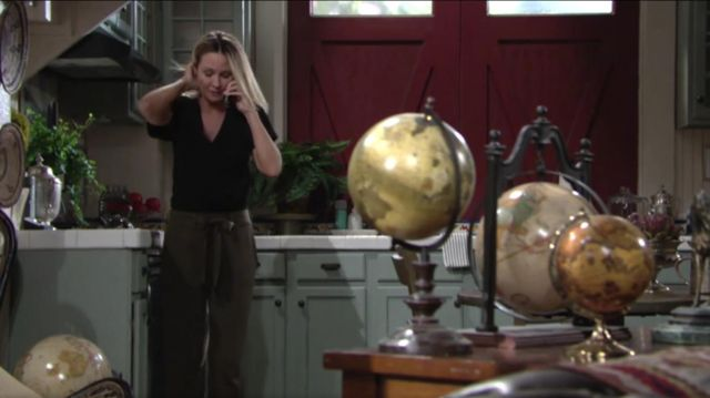 Go Silk Belted Silk Cargo Pants outfit worn by Sharon Collins Newman (Sharon Case) as seen in The Young and the Restless May 2019 - TV Show Outfits and Products