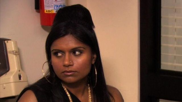 Gold Hoop Earrings of Kelly Kapoor (Mindy Kaling) in The Office (Season 07 Episode 06) - TV Show Outfits and Products