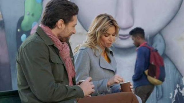 Fashion Trends 2021: Gray coat outfit worn by Chloe (Ingrid Chauvin) seen in Tomorrow belongs to us Season 1 Episode 6