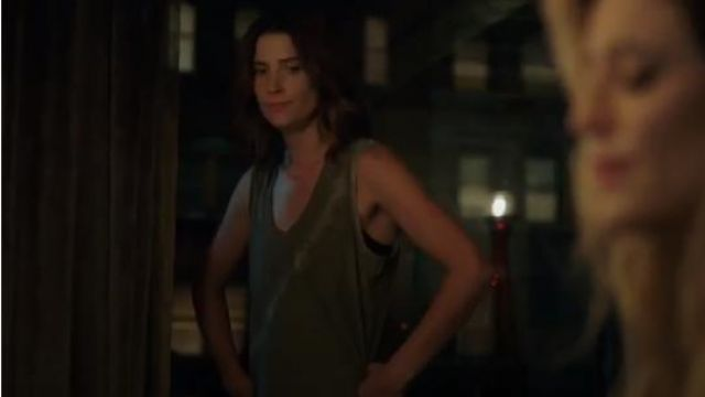 Green Tie-Dye Cotton Tank Top outfit worn by Dex Parios (Cobie Smulders) in Stumptown Season 1 Episode 6 - TV Show Outfits and Products
