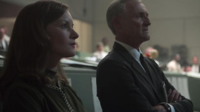Green cardigan outfit worn by Margo Madison (Wrenn Schmidt) as seen in For All Mankind (Season 01) - TV Show Outfits and Products