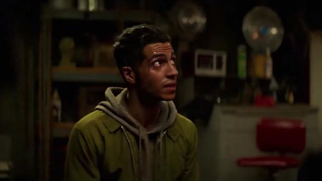 Green jacket outfit worn by Ethan Hart (Mena Massoud) in Reprisal Season 1 - TV Show Outfits and Products