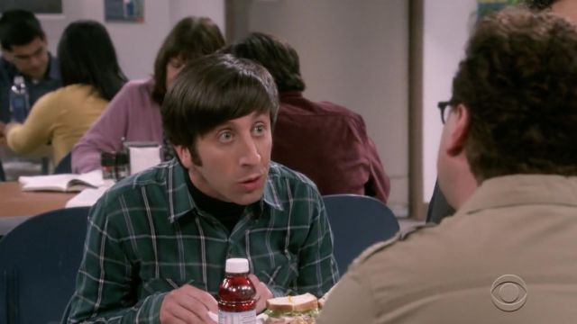 Green shirt plaid Salt Valley outfit worn by Howard Wolowitz (Simon Helberg) The Big Bang Theory S12 Episode 4 - TV Show Outfits and Products