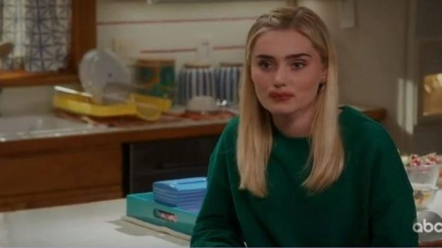 Green sweater Forever 21 Taylor Otto (Meg Donnelly) seen in American Housewife Season 3 Episode 6