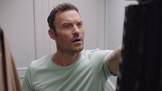 Green t-shirt outfit worn by Brian Austin Green as seen in Beverly Hills, 90210 - TV Show Outfits and Products
