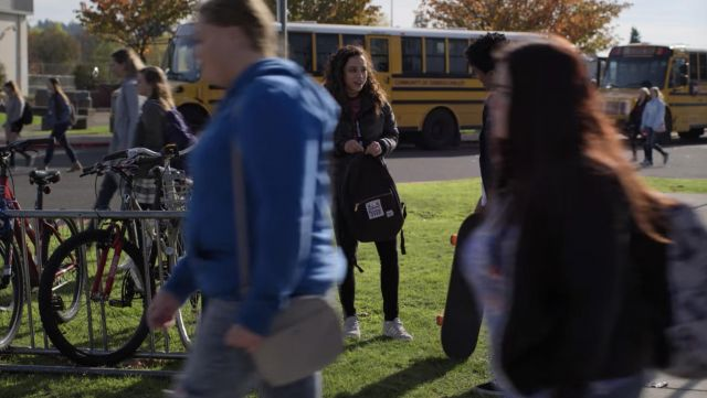 Grey Adidas Campus Sneakers outfit worn by Moe Truax (Kiana Madeira) in Trinkets (S01E06) - TV Show Outfits and Products