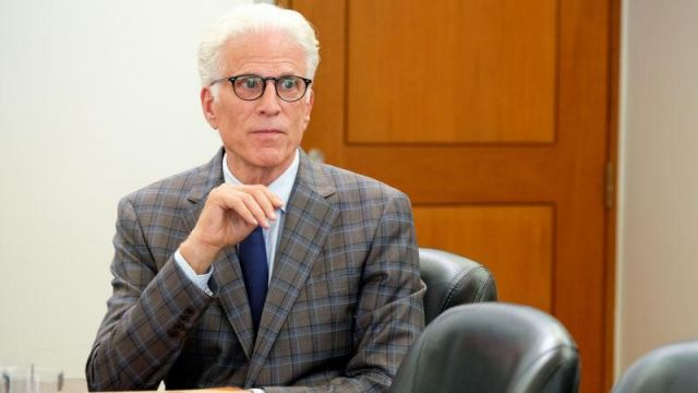 Fashion Trends 2021: Grey Plaid Blazer outfit seen on Michael (Ted Danson) in The Good Place S03E11