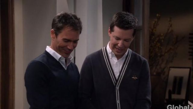 Gucci Cardigan wool knit with bee outfit worn by Jack McFarland (Sean Hayes) in Will & Grace (S02E09) - TV Show Outfits and Products