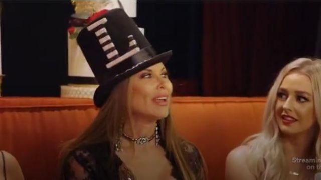 Gucci Crystal Web Choker outfit worn by LeeAnne Locken in The Real Housewives of Dallas Season04 Episode06 - TV Show Outfits and Products